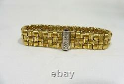 Roberto Coin Appasionata 18k Gold And Diamond 3 Row Intertwined Cable Bracelet