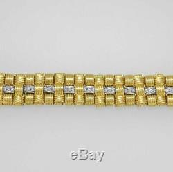 Roberto Coin Appassionata 18K Gold 1.18ct Diamond BRACELET 7.25L