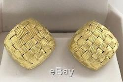 Roberto Coin Appassionata 18k Yellow Gold Woven Earrings Italy