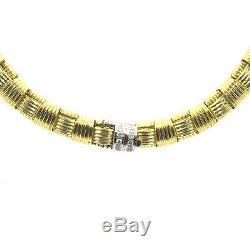 Roberto Coin Appassionata Diamond Clasp 18 Karat Yellow Gold Estate Necklace