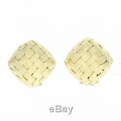 Roberto Coin Appassionata Earrings 18k Gold Italian Designer Gift Pierced