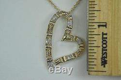 Roberto Coin Appassionata Heart Pendant Necklace Diamonds 18kt Yellow Gold