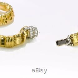 Roberto Coin Appassionata Necklace Pave Diamond Clasp, 18k Yellow GOLD 18