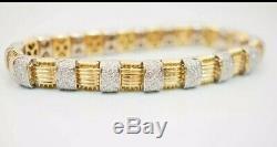 Roberto Coin Appassionata Woven Diamond Bracelet 18k Yellow Gold 2.5 ct Mint 35g