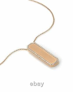 Roberto Coin Art Deco 18k Rose Gold Diamond 0.39ct Necklace 8882024AX31X