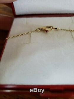 Roberto Coin Authentic Single Station Diamond Necklace 18kt Yellow Gold 0.10 ct