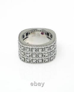 Roberto Coin Barocco 18k White Gold Diamond 0.62ct Ring Sz 6.5 7771948AW65X