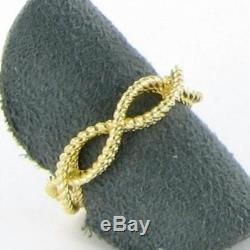 Roberto Coin Barocco Braided Twist Ring 18k Yellow Gold Sz 6.5 New $800