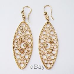 Roberto Coin Bollicine Diamond & 18K Yellow Gold Oval Drop Earrings $2900