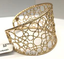 Roberto Coin Bollicine Diamond Cuff Bracelet 18K