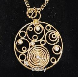 Roberto Coin Bollicine Necklace Gold Diamond Pendant 16 Toggle Italian