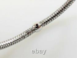 Roberto Coin Bracelet Primavera 18 K White Gold Flexible Woven Station 7 Long