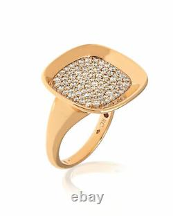 Roberto Coin Carnaby St. 18K Rose Diamond 0.88ct Sz6.5 8882191AX65X MSRP $5200
