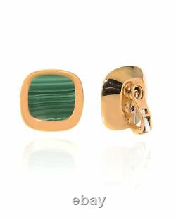 Roberto Coin Carnaby Street 18k Rose Gold And Malachite Earrings 8882216AXERM