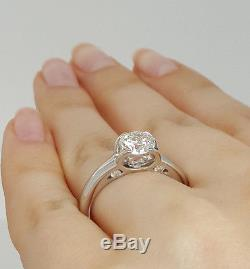 Roberto Coin Cento 18K Gold 1.10 ct Diamond C Profile Solitaire Engagement Ring