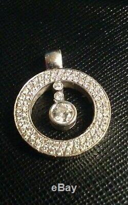 Roberto Coin Cento 18K White Gold 0.80ct Diamond Pendant