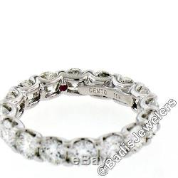 Roberto Coin Cento 18K White Gold 4.24ct 16 Certified Diamond Eternity Band Ring