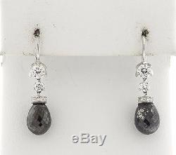 Roberto Coin Cento 18k Gold Black Diamond Briolette Drop Earrings