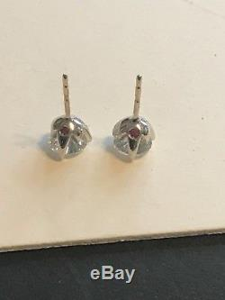 Roberto Coin Cento diamond Tulip Stud Earrings 2.43ct 18k WHITE GOLD