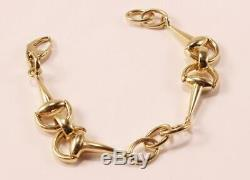 Roberto Coin Cheval Horsebit Stirrup Equestrian 18k Yellow Gold Bracelet