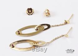 Roberto Coin Chic & Shine 18k Yellow Gold High Polish Oval Shape Dangel Earrings