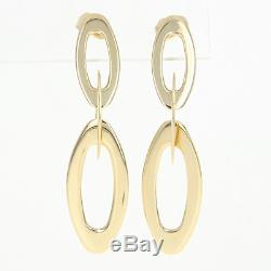 Roberto Coin Chic & Shine Earrings 18k Yellow Gold Dangle Ruby Accents Pierced
