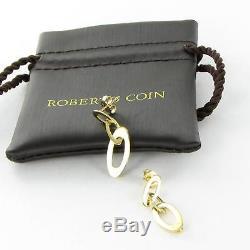Roberto Coin Chic & Shine Earrings Mini Drop/Dangle 18k Yellow Gold $1180