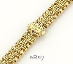 Roberto Coin Classic Appassionata Diamonds Three Row Weave Necklace