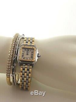 Roberto Coin Classica Parisienne 18K White Gold. 49ct 7 Diamond Bracelet Bangle