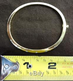 Roberto Coin Classica Parisienne 18K Yellow Gold 7 Diamond Bangle Bracelet