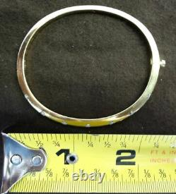 Roberto Coin Classica Parisienne 18k Gold Ruby 7 tension Diamond Bracelet bangle