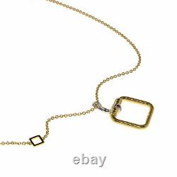Roberto Coin Classica Parisienne 18k Yellow & White Gold Diamond 0.08ct Necklace