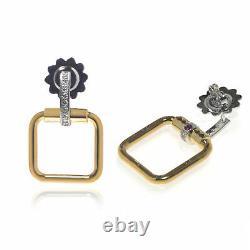 Roberto Coin Classica Parisienne 18k Yellow & White Gold Diamond 0.18ct Earrings
