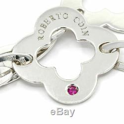 Roberto Coin Clover Chic and Shine Toggle Bracelet in 18k White Gold