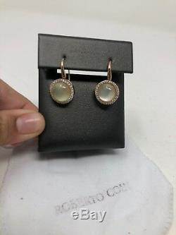 Roberto Coin Cocktail Diamond Drop Earrings 0.53cts 18K Rose Smokey Quartz $4900
