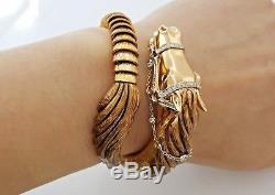 Roberto Coin Coiled Arabian Horse 18k Rose Gold 0.54 ct Diamond Bracelet Rt $29k