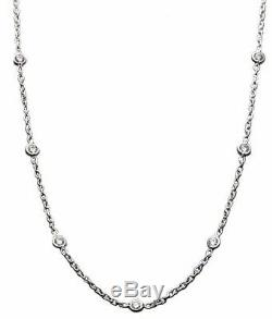 Roberto Coin Diamond 13 Diamond Station Necklace 18K White Gold 16