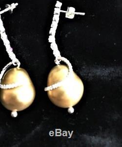 Roberto Coin Diamond & 18K Gold Drop Earrings