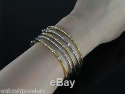 Roberto Coin Diamond 18K Yellow Gold Classica Parisienne Ruby Bangle Bracelet