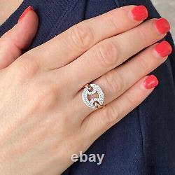 Roberto Coin Diamond 18 Karat White Rose Gold Vintage Ring Designer Ring