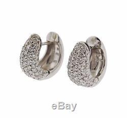 Roberto Coin Diamond 18k Gold Huggies Hoop Earrings $4900