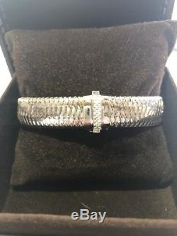 Roberto Coin Diamond Bracelet White Gold Primavera
