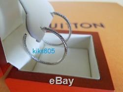 Roberto Coin Diamond Earrings Inside Out Hoops 18k White Gold