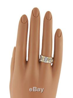 Roberto Coin Diamond Elephant Skin 18K Two Tone Gold Band Size 6.25