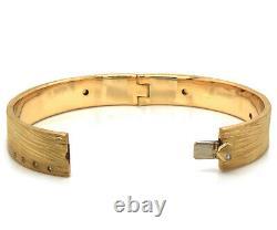 Roberto Coin Diamond Elephant Skin Bangle Bracelet in 18K