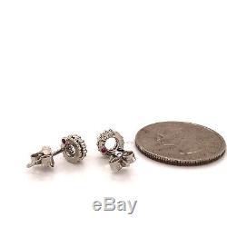 Roberto Coin Diamond Halo Stud Earrings 18k White Gold