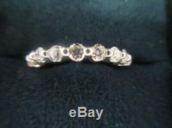 Roberto Coin Diamond Ring In 18kt White Gold, Sz 9