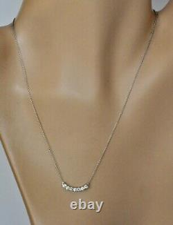 Roberto Coin Diamond Scallop Pendant Necklace 18K White Gold $3300 New Sale