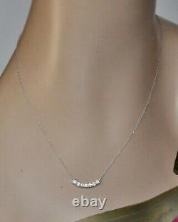 Roberto Coin Diamond Scallop Pendant Necklace 18K White Gold $3300 New Sale