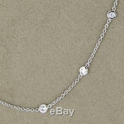 Roberto Coin Diamonds by the Inch 0.74cts 18K White Gold 18 Necklace New $3000